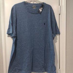 NWT Men's blue Ralph Lauren Polo brand tee